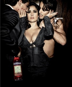 Salma Hayek in the Hotel Campari