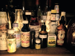 My home bitters shelf