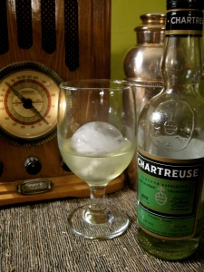 Life at my house, Chartruese, on rock after work. (hand carved ice of course)