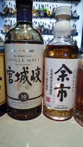 Yoichi 12 Single Malt and Unknown Bottle