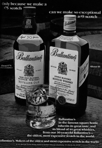 Zane Grey writes about drinking Ballantine's, if you don't know what that means you are under 50 years of age.
