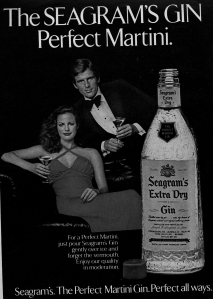 Seagram's Gin, or not, whatever, I mean its open already might as well.