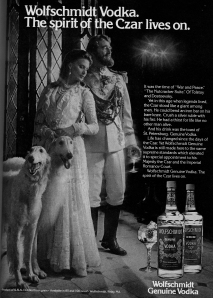 "When an ad draws imagary from the Romanov's I do think ""Gunned down in a cellar."""