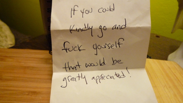 """When delivered as a bar bill, this is what you call an """"ironic compliment."""""""