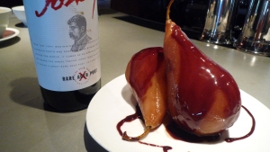 Poached Pears in Chocolate, aka:sexy dessert