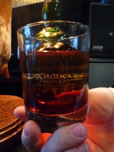 Ardbeg Scotch on Hand cut ice