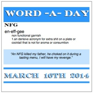 word a day non functional garnish nfg